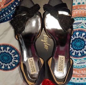 Badgley Mischka black sandals size 9